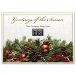 MT14026 Magical Mantel Holiday Logo Cards 7 7/8 x 5 5/8