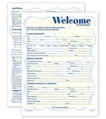 W4098 Two Sided Registration & History Form Smile Helpers Design 8 1/2 X 11