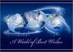 A8005 World of Best Wishes Business Holiday Card 7 7/8 x 5 5/8