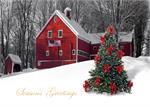BB1067 Patriotic Countryside Christmas Cards 7 7/8 x 5 5/8
