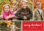 D2384 merry christmas! Holiday Photo Card 7 7/8 x 5 5/8