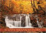 D2425 Woodland Waterfall Thanksgiving Card 7 7/8 x 5 5/8