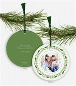 D2669 Merry Christmas Lots of Joy Photo Ornament Card 5.5
