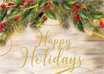 H08618 Pine of Gold Holiday Cards 7 7/8