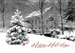 H08629 Snowy Mill Holiday Cards 7 7/8