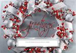 H08643 Frosted Flair Holiday Cards 7 7/8 x 5 5/8