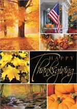H08671 Glowing Gratitude Thanksgiving Cards 5 5/8