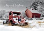 H08676 Rustic Glory Patriotic Holiday Cards 7 7/8