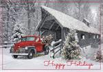 H09611 Happy Trails Holiday Cards 7 7/8 x 5 5/8