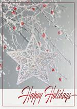 H09625 Seamless Sparkle Holiday Cards 5 5/8 x 7 7/8