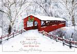 H09629 Cozy Lane Holiday Cards 7 7/8 x 5 5/8