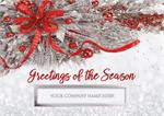 H09635 Silver Frost Holiday Cards 7 7/8 x 5 5/8
