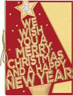 H09644 Bold in Gold Holiday Cards 5 5/8 x 7 7/8