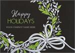 H09651 Sweet Green Wreath Holiday Cards 7 7/8 x 5 5/8