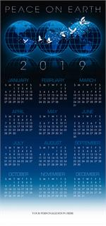 HHZ7401 - N7401 2019 Wishes Calendar Cards 7 7/8