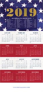 HHZ7403 - N7403 Stars & Stripes Calendar Cards 7 7/8