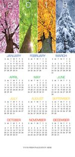 HHZ7405 - N7405 Yearlong Wishes Holiday Calendar Card 7 7/8