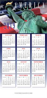 HHZ7406 - NN7406 Land of Liberty Calendar Card 7 7/8