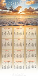 HHZ7408 - N7408 Sea of Tidings Calendar Card 7 7/8