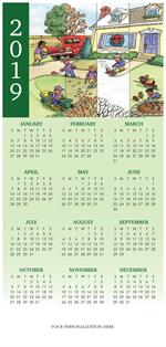 HHZ7414 - N7414 All Year-Round Landscaping Calendar Card 7 7/8