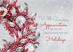 HP02302 Lustrous Appreciation Holiday Cards 7 7/8 x 5 5/8