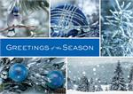 HP08304 Icy Blue Wonder Holiday Cards 7 7/8 x 5 5/8