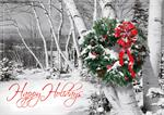 HP08305 Rustic Cheer Holiday Cards 7 7/8 x 5 5/8