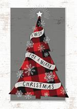 HP08316 Mad for Plaid Christmas Cards 5 5/8 x 7 7/8