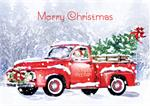 HP09315 Farm Fresh Christmas Cards 7 7/8 x 5 5/8