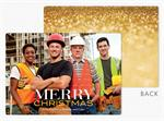 MT08958 Sense of Sparkle Flat Holiday Photo Cards 7 7/8 x 5 5/8