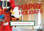 H16663 - N6663 Construction Kringle Contractor & Builder Holiday Cards 7 7/8 x 5 5/8